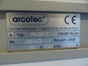 """【テスト使用のみ!】コロナ加工機 アルコジェット(ARCOJET)PG-051 """"処理範囲約55×35mm"""" ARCOTEC(ミシマ)製  「プラスチックなどへの印刷や表面加工現場に。コロナで表面を改質させインキや塗料などを付きやすくする装置」"""